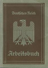 Deutlches Reich Arbeitsbuch