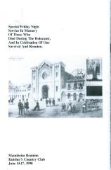 Program for Holocaust remembrance service 1990