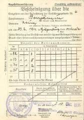Befcheinigung über die 1935