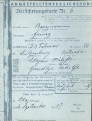Angestelltenversicherung 1937