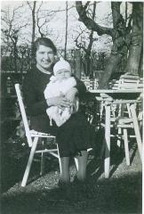 Photo Elsa Blumenstein holding Baby Henry