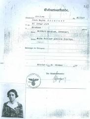 Birth Certificate Paula Goldlust