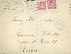 Envelope Addressed to Franz Blumenstein in Cuba
