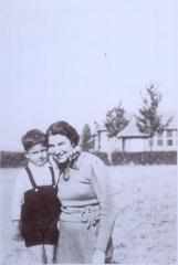 Photographs of Henry Blumenstein and his Mother, Elsa, at the Heijplaat Quarantine Center in Rotterdam, Netherlands