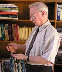 Henry Fenichel with Miniature Torah