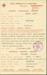 Red Cross Document Notifying of Acceptance for Exchange