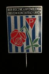 Pin Issued for the 30th Anniversary of the Liberation of the Concentration Camps