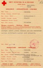 Red Cross Document Regarding Exchange