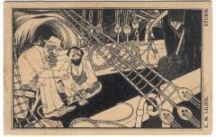 The Storm Postcard by Ephraim Moshe Lilien (1920)