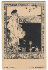 Ellul Melodies Postcard by Ephraim Moshe Lilien (1920)
