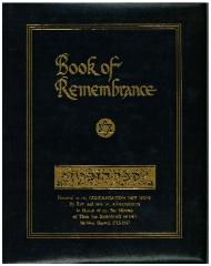 New Hope Congregation, Book of Remembrance