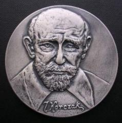 Medal Commemorating Doctor Janusz Korczak from the National Youth Philatelic Exhibition held in Bydgoszcz, Poland, in November 1983