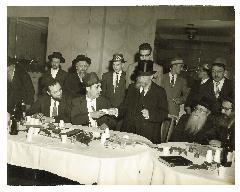 Photos of Wedding of Rabbi Jacob Lustig to Edith Blau, Rabbi Eliezer Silver was the Misader Kiddushin