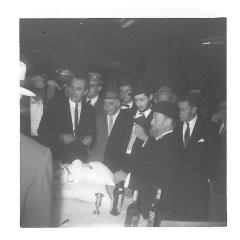 Photos of Bris (Circumcision) of Dovid Lustig, Son of Rabbi Jacob (and Edith) Lustig, Rabbi Eliezer Silver was Sandek