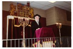 Pictures from Hespid of Rabbi Eliezer Silver from the Kneseth Israel Congregation, Cincinnati, Ohio, February 1, 1982