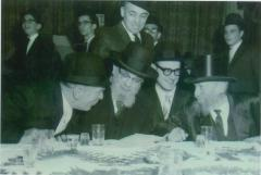 Rabbi Eliezer Silver and Rabbi Yaakov Yitzchok Ruderman at Unidentified Wedding