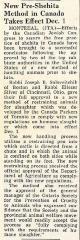 Rabbi Eliezer Silver Approves New Canadian Pre-Shehita Method - 1960