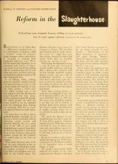 Article from Jan 1961 Together Magazine Regarding Reform Efforts Slaughterhouses Citing Rabbi Eliezer Silver and Rabbi Joseph Soloveitchik