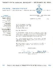 Telshe Yeshiva (Ohio) - 1966 Contribution Receipt