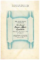 Adath Israel Congregation (Cincinnati, Ohio) Sisterhood 8th Annual Donor Affair Luncheon Booklet - 1952