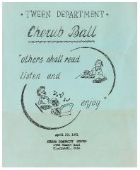 "Jewish Community Center (Cincinnati, Ohio) ""Cherub Ball"" - 1961"