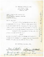 New Hope Congregation Burial Society - Letter to Sigfried Kugelman Regarding Loan to New Hope Congregation for Building Improvements  - April 24, 1950