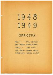 University of Cincinnati Hillel Foundation Archive Documents  1948 – 1949 Academic year