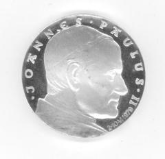 Medal Commemorating the Papal Visit of Pope John Paul II to the Auschwitz Birkenau Concentration Camp in 1979.