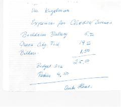 New Hope Congregation Burial Society Receipt - Bachheim Bakery, Queen City Fish, Bilkers - 1969