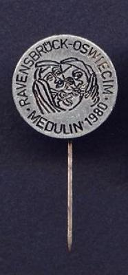 Ravensbruck Commemorative Pin from 1980