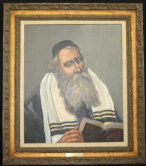 Picture of a Rabbi Reading by Louis Spiegel