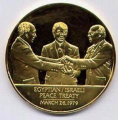 Medal Issued by the Franklin Mint Commemorating the Signing of the Egyptian / Israeli Peace Treaty on March 26, 1979