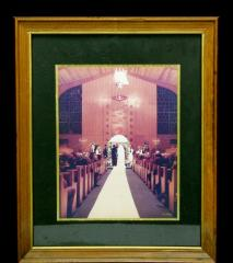 Photograph of Unidentified Wedding at Golf Manor Synagogue, Cincinnati, Ohio