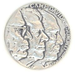 Camp David Summit Medal by the Judaic Heritage Society