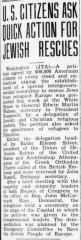 """Jewish Floridian, """"U.S. Citizens Ask Quick Action for Jewish Rescues,"""" article from 9/8/1944"""