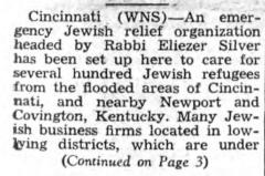 "Southern Israelite, ""Jewish War Veterans Give Flood Relief,"" article from 2/5/1937"