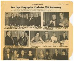 "The American Israelite, ""New Hope Congregation Celebrates 30th Anniversary,"" article from 3/13/1969"