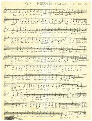 Sheet Music for Half Kaddish and Borachu for Yom Tov in the German Minhag