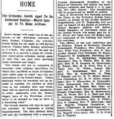 Article regarding Cincinnati Jewish Home for Aged to be Dedicated 9.25.14