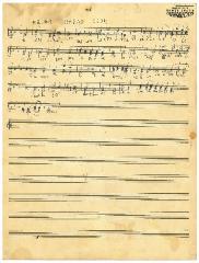 "Sheet Music in the German Minhag: ""HaJom Haras Olom"""
