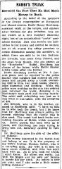 "Cincinnati Enquirer, ""Rabbi's Trunk Revealed the Fact that He Had Much Money in the Bank,"" article 4/15/1910"
