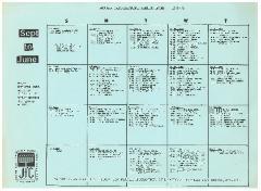 Jewish Welfare Fund - Organizational Meeting Dates September-June 1978-79
