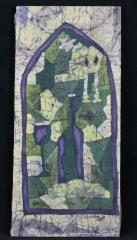 Fabric Depiction of  Stained Glass Window by Felice P. Benik