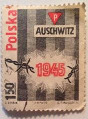 Polish (Polska) Stamp Commemorating the 30th Anniversary of the Liberation of Auschwitz