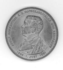 Medal Commemoratingthe 25th Anniversary of Adolph Sonnenthal at the Burg Theater
