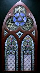Stained Glass Windows (set of 3) from Beth Tefillah Synagogue (Cincinnati, Ohio)