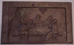 Plaque Depicting the Passover Seder of Rabbi Eliezer, Rabbi Yehoshuah, Rabbi Elazar Ben Azariah, Rabbi Akiva and Rabbi Tarfon as described in the Passover Haggadah