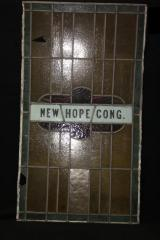 Stained Glass Window from New Hope Congregation