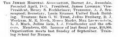 Bio of The Jewish Hospital Association (Cincinnati, Ohio) from the American Jewish Year Book 1900 – 1901, 5661