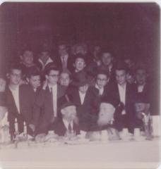 Rabbi Eliezer Silver with the Kapishnetz Rebbe and Rabbi Avrohom Yaakov Teitelbaum